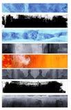 Banderas del estilo del Grunge Fotografía de archivo libre de regalías