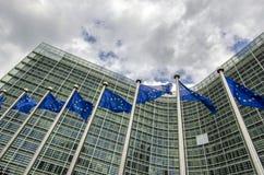Banderas del Eu Imagen de archivo
