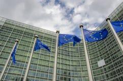 Banderas del Eu Fotografía de archivo libre de regalías