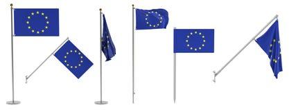 Banderas del Eu ilustración del vector