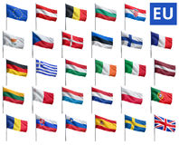Banderas del Eu Imagen de archivo libre de regalías