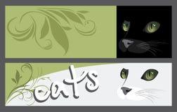 Banderas del extracto dos con el bozal de gatos Fotografía de archivo libre de regalías