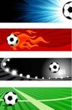 Banderas del fútbol Imágenes de archivo libres de regalías