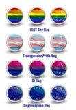 Banderas del gay de LGBT stock de ilustración