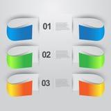 Banderas del gráfico de la información Imagen de archivo libre de regalías