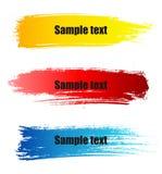 Banderas del grunge de la pintura del color Fotografía de archivo libre de regalías