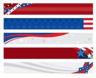 Banderas del indicador americano Imágenes de archivo libres de regalías