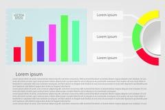 Banderas del infographics y del círculo del gráfico de negocio ilustración del vector