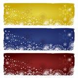 Banderas del invierno Imágenes de archivo libres de regalías