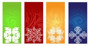 Banderas del invierno fijadas Fotos de archivo libres de regalías