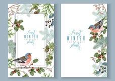Banderas del invierno del pájaro libre illustration