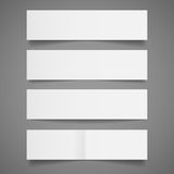 Banderas del Libro Blanco Fotos de archivo libres de regalías