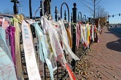 Banderas del mensaje en Ferguson Foto de archivo