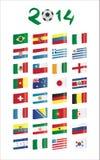 Banderas del mundial Imagenes de archivo