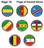 Banderas del mundo África central Imagen de archivo libre de regalías