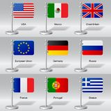 Banderas del mundo Imagenes de archivo