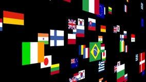 Banderas del mundo 4 animados libre illustration