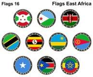 Banderas del mundo La África del Este Imagen de archivo