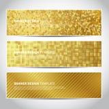Banderas del oro ilustración del vector