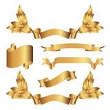 Banderas del oro Foto de archivo libre de regalías