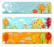 Banderas del otoño stock de ilustración