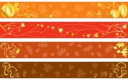 Banderas del otoño en colores calientes Imágenes de archivo libres de regalías