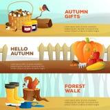 Banderas del otoño fijadas Fotografía de archivo libre de regalías