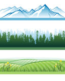 Banderas del paisaje stock de ilustración