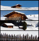 Banderas del paisaje del invierno Foto de archivo libre de regalías