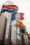 Banderas del Parlamento Europeo imagenes de archivo
