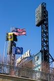Banderas del parque de PNC Imagen de archivo libre de regalías