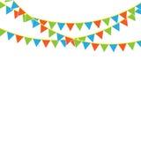 Banderas del partido con confeti Imagenes de archivo