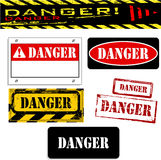 Banderas del peligro Fotos de archivo libres de regalías