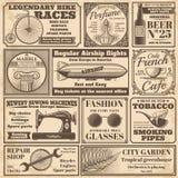 Banderas del periódico del vintage y sistema del vector de las etiquetas de la publicidad ilustración del vector