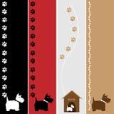Banderas del perro stock de ilustración