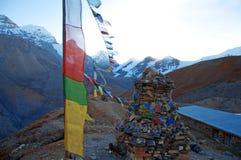 Banderas del rezo de Himalaya Imagenes de archivo