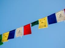 Banderas del rezo del Nepali imagenes de archivo