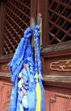 Banderas del rezo en Mongolia Imagenes de archivo