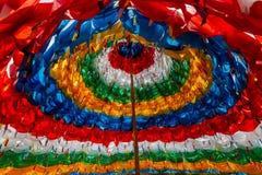 Banderas del rezo - mantra Stupa Imagen de archivo libre de regalías