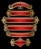 banderas del Rojo-oro ilustración del vector