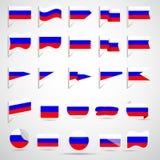 Banderas del ruso Foto de archivo libre de regalías