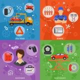 Banderas del servicio del coche Imágenes de archivo libres de regalías