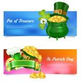 Banderas del St Patrick Day Fotos de archivo libres de regalías