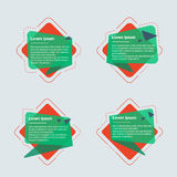 Banderas del texto de la geometría Fotos de archivo libres de regalías