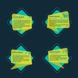 Banderas del texto de la geometría Imágenes de archivo libres de regalías