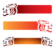 Banderas del tigre Fotos de archivo libres de regalías