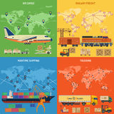 Banderas del transporte por camión Fotografía de archivo libre de regalías