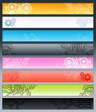 Banderas del trazado de circuito Imagen de archivo libre de regalías