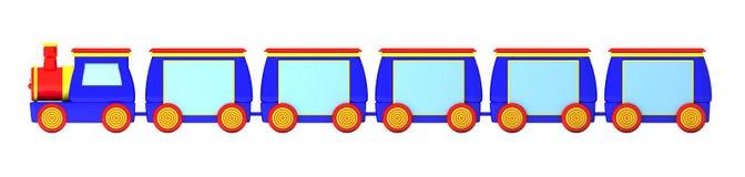 Banderas del tren stock de ilustración
