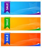 Banderas del vector Fotos de archivo libres de regalías